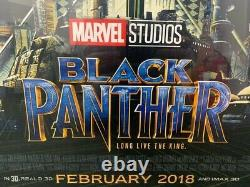 Genuine Black Panther (2018) Original Cinema Movie Quad Poster 40x30 (Framed)
