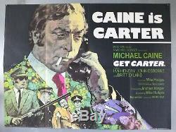 Get Carter Michael Caine / Ian Hendry Original 1971 Uk Quad Movie Poster
