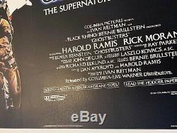 Ghostbusters Original UK Quad Film Poster LINEN BACKED 1984 Bill Murray