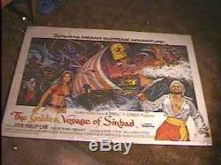 Golden Voyage Sinbad Br Quad Movie Poster Harryhausen
