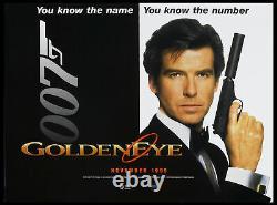 Goldeneye Pierce Brosnan James Bond 007 1996 Double-sided Advance British Quad