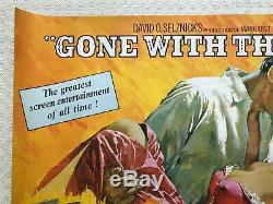 Gone With The Wind Movie Quad Poster 1969 Clark Gable Vivien Leigh Terpning Art