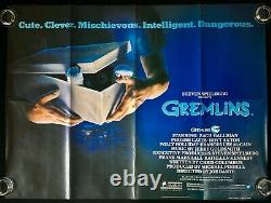 Gremlins Original Quad Movie Poster Steven Spielberg 1984