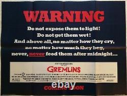 Gremlins Teaser Original Advance Movie Quad Film Poster 1984 Rare