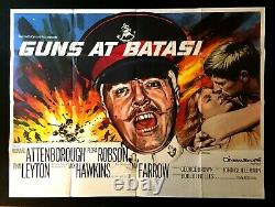 Guns at Batasi Original Quad Movie Poster Tom Chantrell Artwork 1964