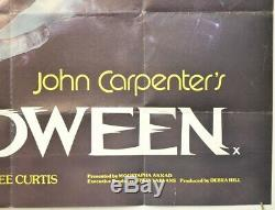 HALLOWEEN (1978) Original Quad Movie Poster John Carpenter, Jamie Lee Curtis