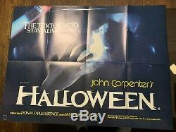 HALLOWEEN (1978) Original Quad Movie Poster PLUS Extra Quad of Assault/Halloween