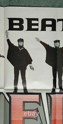 HELP! (1965) very rare original UK cinema quad movie poster THE BEATLES