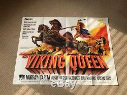 Hammer Films The Viking Queen Original UK Quad Film Movie Poster