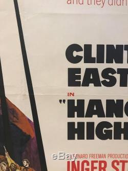 Hang'Em High UK Quad (1968) Original Film Poster