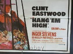 Hang' Em High Uk Quad Original Film Poster 1968 Clint Eastwood