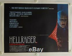 Hellraiser original release British Quad movie poster