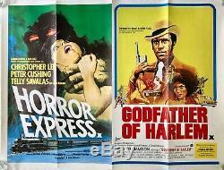 Horror Express Godfather of Harlem Original Movie Quad Poster Christopher Lee