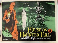House On Haunted Hill British Quad Original Professionally Linenbacked 1959