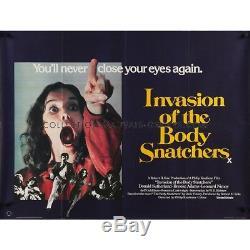 INVASION OF THE BODY SNATCHERS Movie Poster 30x40 in. British Quad 1978 Su
