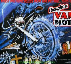 I BOUGHT A VAMPIRE MOTORCYCLE MOVIE POSTER BRITISH QUAD 1990 Original 30x40 RARE