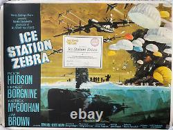 Ice Station Zebra LINEN BACKED withcert UK British Quad Film Poster (1969)