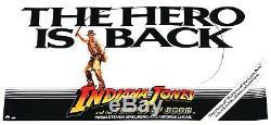 Indiana Jones Temple of Doom Original Advance Quad Movie Poster 1984 Rolled UIP