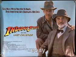 Indiana Jones and the Last Crusade Original Quad Movie Poster Sean Connery 1988
