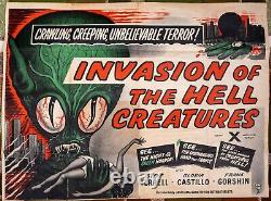 Invasion of The Hell Creatures UK Quad Movie Poster