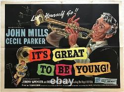 It's Great To Be Young Origin Quad Film Poster 1956 John Mills, Cecil Parker