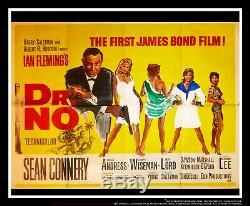 JAMES BOND DR NO 30 x 40 Uk Quad Movie Poster Original 1962