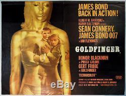 JAMES BOND Movie Poster GOLDFINGER 1964 Orig Quad 30 X 40