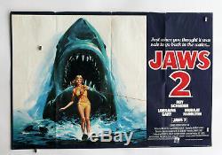 JAWS 2 Original UK Quad Film Poster 1978