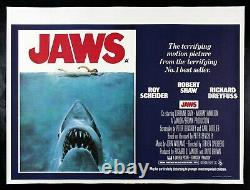 JAWS CineMasterpieces 1975 ORIGINAL MOVIE POSTER UK BRITISH QUAD RARE NM C9
