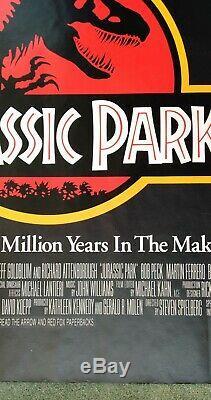 JURASSIC PARK (1993) original UK quad movie poster ROLLED UNFOLDED
