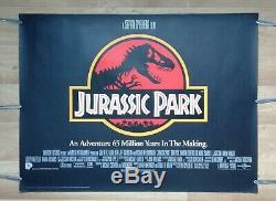 JURASSIC PARK (1993) original UK quad movie poster ROLLED UNFOLDED dinosaur