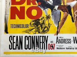 James Bond DR. NO Original 1962 UK Quad Film Poster Sean Connery 007 movie
