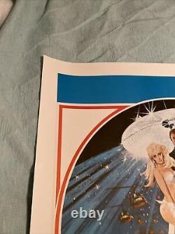 James Bond Diamonds Are Forever, UK Movie Quad Linen Backed & Original