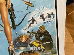 James Bond For Your Eyes Only, UK Movie Quad Linen Backed & Original