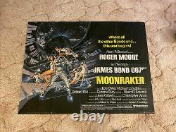 James Bond Moonracker Poster, UK Movie Quad Original