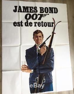 James Bond OHMSS vintage film cinema movie advertising poster quad art 007 1969