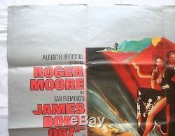 James Bond, The Spy Who Loved Me, Orig 1977 Quad Movie Film Poster, Roger Moore