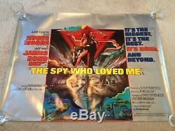 James Bond The Spy Who Loved Me Original Uk Quad Film Poster 1977 (rolled)