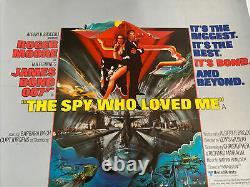 James Bond The Spy Who Loved Me, UK Movie Quad Linen Backed & Original