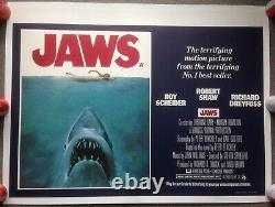 Jaws quad 30x40 linen backed original movie cinema poster Steven Spielberg