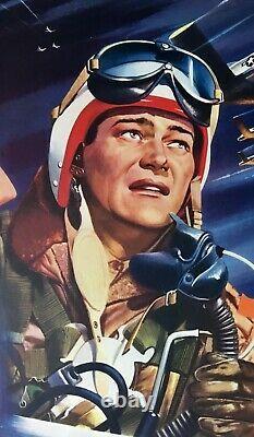 Jet Pilot Original Quad Movie Poster LINEN BACKED John Wayne Janet Leigh 1957