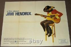 Jimi Hendrix Superb Rare U. K. Quad Promo Poster A Film About Jimi Hendrix 1973