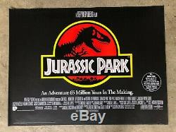 Jurassic 1993 Park Original British Quad Movie Poster