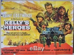 Kellys Heroes (1970) Film Poster Clint Eastwood Telly Savalas UK Quad