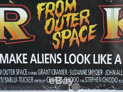 Killer klowns from outer space (ROLLED) 1988 uk quad cinema film poster