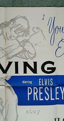 LOVING YOU (1957) original UK quad movie poster ELVIS PRESLEY very rare