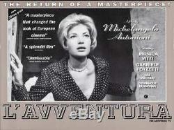 L'AVVENTURA British Quad movie poster R95 MONICA VITTI MICHELANGELO ANTONIONI