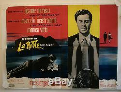 La Notte The Night Original Uk Quad Film Poster Antonioni