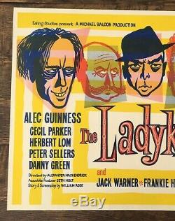 Ladykillers vintage Ealing film movie advertising U. K. H/s quad art poster 1955