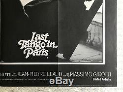 Last Tango In Paris Original Movie Quad Poster 1972 Marlon Brando
